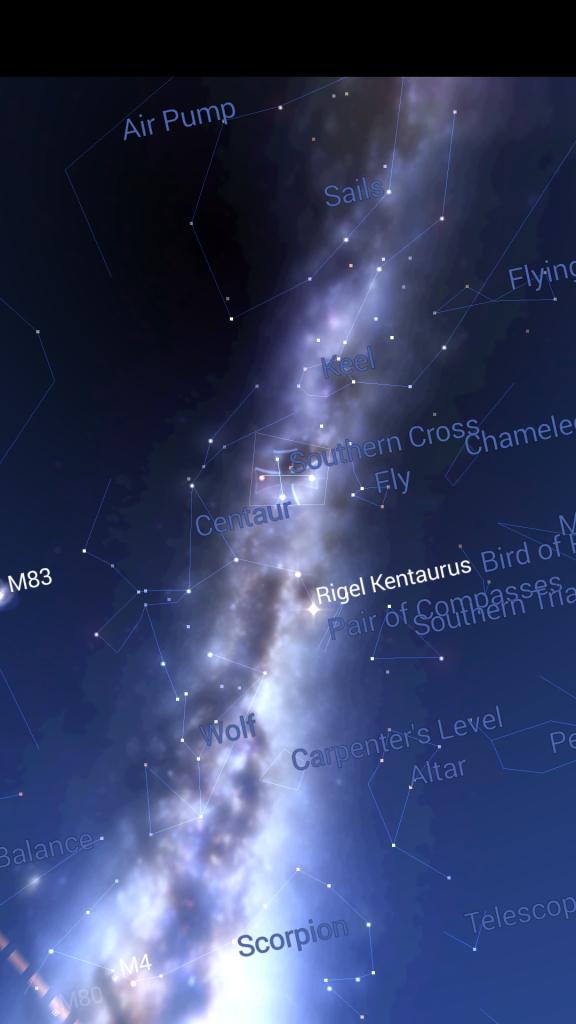 星座表アプリ南十字星