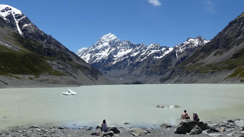 フッカーバレートラックフッカー氷河湖湖畔