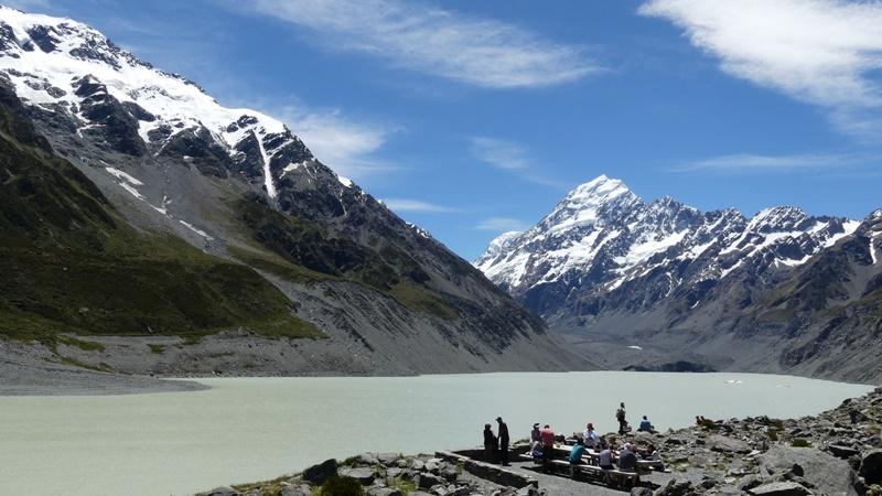 フッカーバレートラックフッカー氷河湖見晴らし台