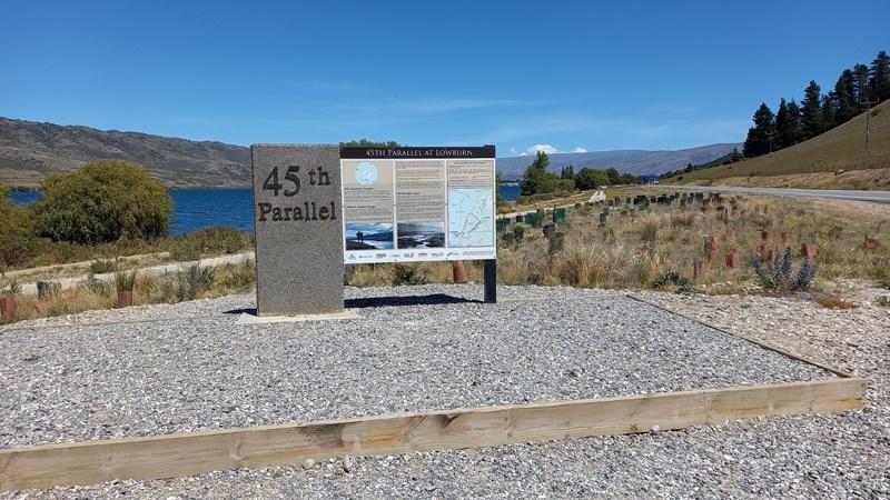 南緯45度線標識