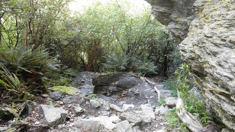 ロッキーマウンテントラック岩場の下り道